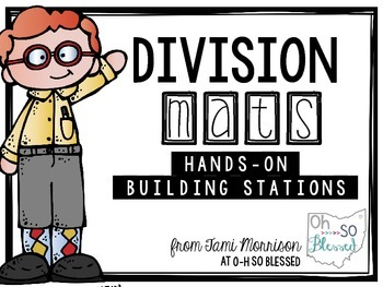 Division Math Mats [a hands on building station]