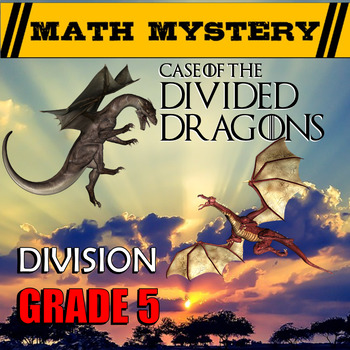 5th Grade Division word problems, Dividing with 2-digit Divisors Math Mystery