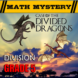 Long Division Distance Learning Word Problems Math Mystery Activity 5th Grade