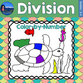 Division Math Practice Under the Sea Color by Number