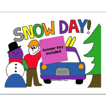 Division Math Practice Snow Day Color by Number