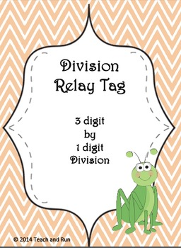 Division Math Tag; 3 digit by 1 digit