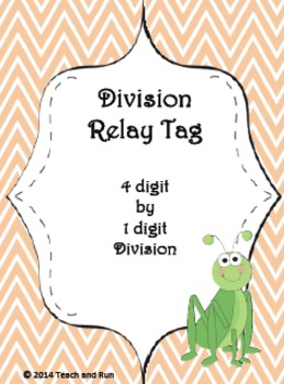 Division Math Tag; 4 digit by 1 digit