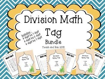 Division Math Tag Bundle