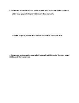 Division Math Task