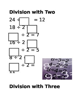 Division Math Tile Cards