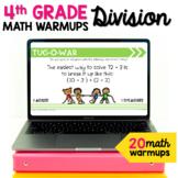 Division Math Talk Warmups