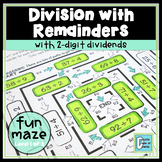 Division Maze With Remainders Level 1