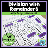 Division Maze With Remainders Level 2