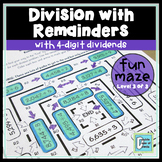 Division Maze With Remainders Level 3