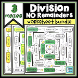 Division Maze Without Remainders BUNDLE