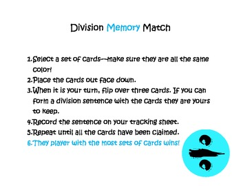 Division Memory Match