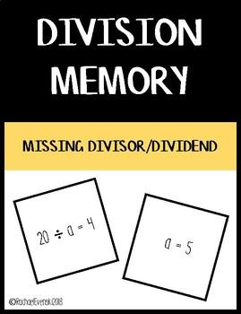 Basic Division Memory - Missing Divisor/Dividend