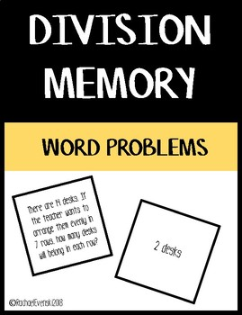 Basic Division Memory - Word Problems