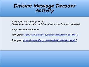 Division Message Decoder Activity