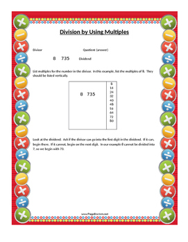 Division Method: Using Multiples of Numbers