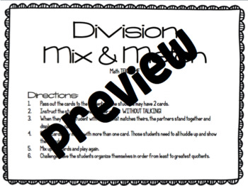 Division Mix and Match