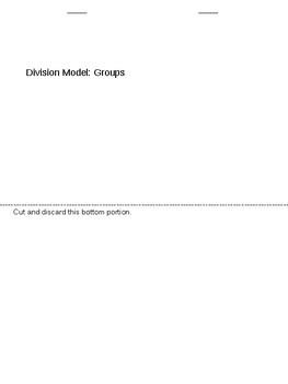 Division Model: Groups Flip Book