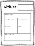 Division Model Worksheet