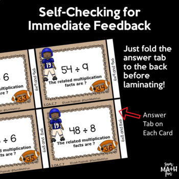 Division Multiplication Inverse Task Cards