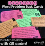 Division Multistep Word Problem Task Cards with QR Codes