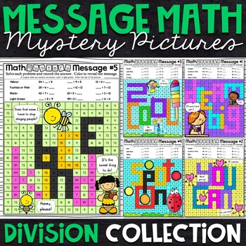 Division Mystery Pictures - Message Math