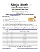 Division Ninja Math: Fact Fluency Practice/Self Correcting Timed Tests
