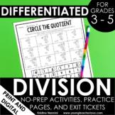 Division Worksheets - No Prep Printables - Google Slides D