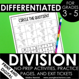 Division Worksheets - No Prep Printables - Distance Learning