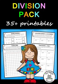 Division Pack (Units, Tens, Hundreds and Thousands) - 35+ PRACTICE printables