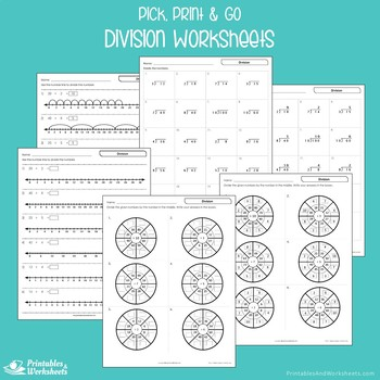 Division Packet, Practice Worksheets