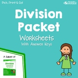 Basic Division Packet Practice Worksheets
