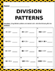 Math: Division Patterns - 3 pages of 5 different patterns each page.