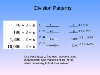 Division Patterns Instructional PowerPoint