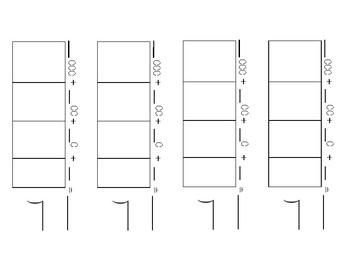 Division:  Place Value Method Worksheet - Large and Average Print
