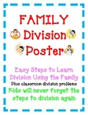 Division Poster and Activity Easy Steps to Learn Division Using the Family