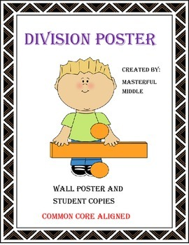 Division Poster and Student Copy