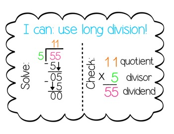Division Posters for 5th Grade - updated!