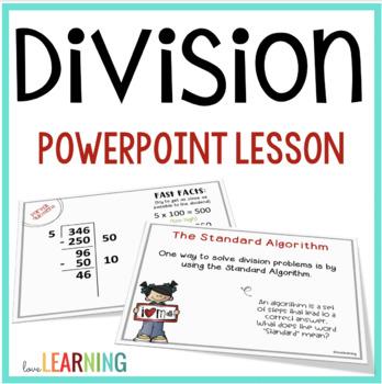 Division PowerPoint Lesson - 5th Grade