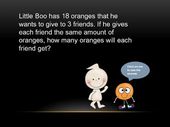 Division Powerpoint: Little Boo Shares Fruits