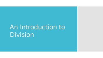 Division Powerpoint: review of key words and process
