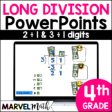 Distance Learning Division Powerpoints: Long Division, Arrays, Area Model
