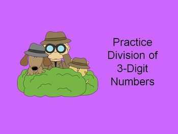 Division Practice : 3-Digit Numbers by 1-Digit Numbers