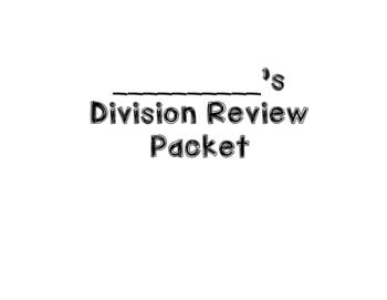 Division Practice Book