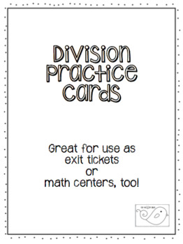 Division Practice Cards