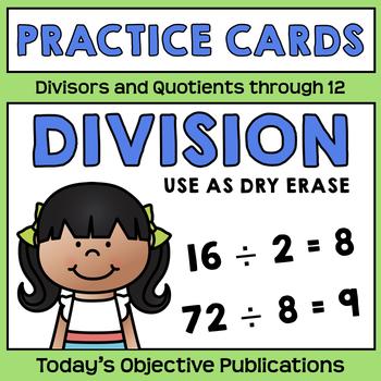 Division Practice Cards (Dry Erase)