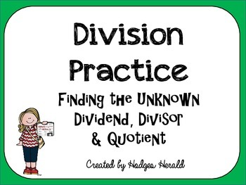Division Practice-Finding the Unknown