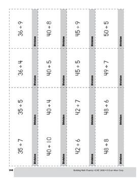 Division Practice Flashcards, Grade 3