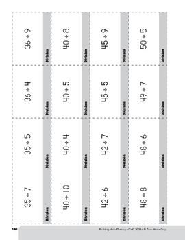 Division Practice Flashcards, Grades 4-6+
