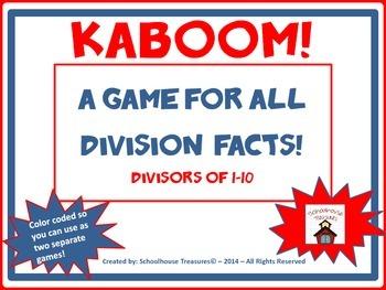 Division Practice: Kaboom Game   (Divisors of 1-10)